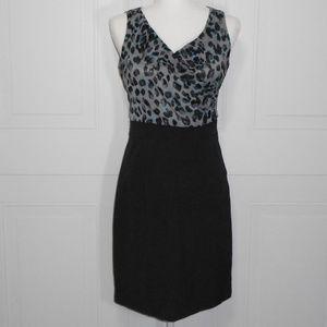 New York & Company Leopard Sleeveless Sheath Dress